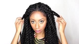getlinkyoutube.com-Sensationnel Braid Lace Wig Senegal Locks review | Elevate Styles
