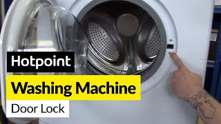 getlinkyoutube.com-How to fix a washing machine door lock in a Hotpoint washing machine