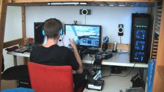 getlinkyoutube.com-My PC Flight Simulator setup Demo Flight 1 Part 1 - Boeing 737 [HD 720p]