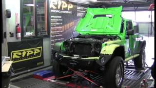 6.4 Hemi V8 Jeep Wrangler on Dyno RIPP Superchargers