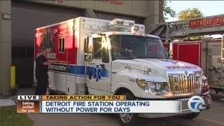 getlinkyoutube.com-Detroit fire station operating without power for days