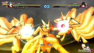 getlinkyoutube.com-Naruto Shippuden Ultimate Ninja Storm 4 - 3 Headed Kurama Vs Juubi Ten Tails Boss Battle Screens