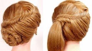 "getlinkyoutube.com-2 прически на каждый день. Плетение ""рыбий хвост"". Easy fishtail braid hairstyles"