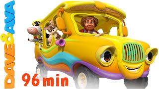 getlinkyoutube.com-The Wheels on the Bus - Animal Sounds Song | Nursery Rhymes Compilation from Dave and Ava