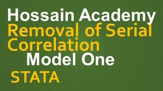 getlinkyoutube.com-Removal of Serial Correlation. Model One. STATA