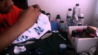 "getlinkyoutube.com-Custom ""Abstract Camo"" Air Jordan 6 (part 2)"