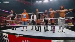 WWE John Cena and Raw Superstars target The Nexus And Ends In Battling With Themselves *HD*