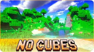 Minecraft - NO CUBES: Terrain without Cubes Mod - Smooth Realistic Minecraft Terrain