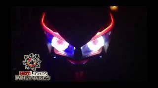 getlinkyoutube.com-Honda Click 125i Dual Led Projector+Led eye Brow (By HotLights Philippines)