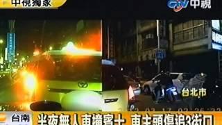 getlinkyoutube.com-半夜無人車撞賓士 車主頭傷追3街口