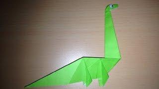 getlinkyoutube.com-折り紙の恐竜 簡単な折り方 Origami dinosaur easy