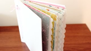 getlinkyoutube.com-Mini álbum de sobres con cubierta de cartón (I): Estructura