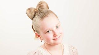 getlinkyoutube.com-Детская прическа Бант. Bow Hairstyle