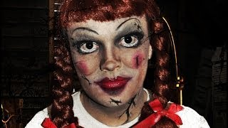 getlinkyoutube.com-Annabelle Doll - The Conjuring - Makeup Tutorial!