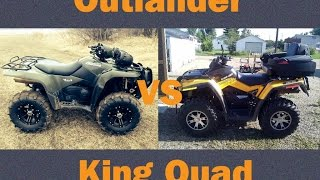getlinkyoutube.com-Can-Am Outlander 650 vs Suzuki Kingquad 750 Steep Hill Climb Remix