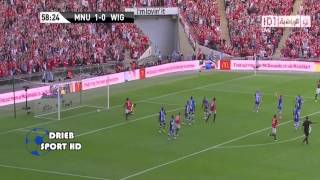 getlinkyoutube.com-Manchester United 2 - 0 Wigan (FA Charity Shield 2013 Highlights)