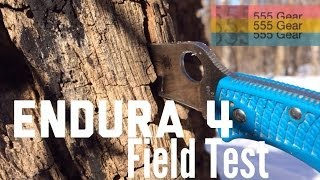 "getlinkyoutube.com-Field Test: Spyderco Endura 4 FFG Knife ""Lessons Learned"""
