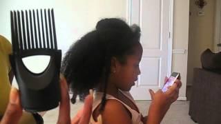 getlinkyoutube.com-How I Detangle and Blow Dry Natural Girls Hair