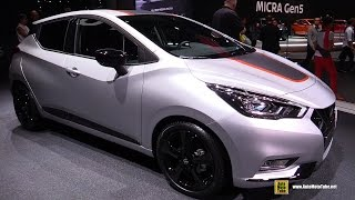 getlinkyoutube.com-2017 Nissan Micra - Exterior and Interior Walkaround - Debut at 2016 Paris Motor Show