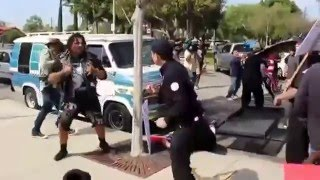 getlinkyoutube.com-FULL FIGHT VIDEO: The KKK Gets Beat Up in Anaheim