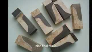 getlinkyoutube.com-How to make knife making handle material - exceptional CUSTOM cutting