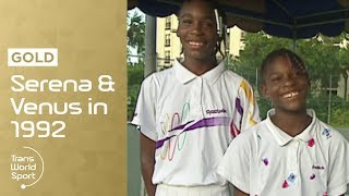 getlinkyoutube.com-11 and 12-year-old Venus & Serena Williams on Trans World Sport
