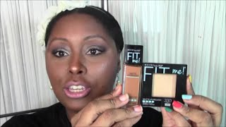 getlinkyoutube.com-New Maybelline FIT ME Matte + Poreless Foundation - Demo + Review - Ty Denise - 12/31/14