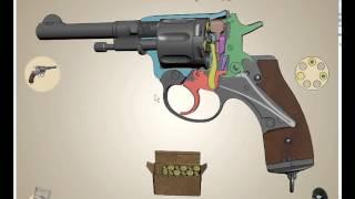"""getlinkyoutube.com-Револьвер """"Наган"""" интерактивная модель"""
