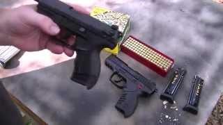 getlinkyoutube.com-Walther P22 vs Ruger SR22.