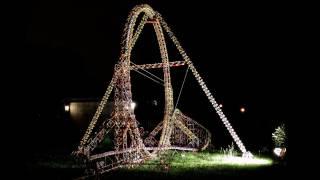 getlinkyoutube.com-World's Largest K'nex Roller Coaster Loop (with POV)