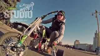 getlinkyoutube.com-Питбайк JMC drift trike in Moscow 2015
