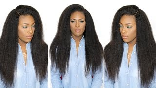 getlinkyoutube.com-How I Install & Style Brazilian Kinky Straight Hair | Bestlacewigs