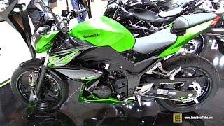 getlinkyoutube.com-2015 Kawasaki Z300 - Walkaround - Debut at 2014 EICMA Milan Motorcycle Exhibition