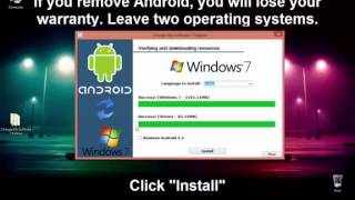 getlinkyoutube.com-How to install WINDOWS 7 on ANDROID TABLET-PHONE__