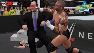getlinkyoutube.com-WWE 2K16 Brock Lesnar vs Randy Orton Summerslam 2016 (Custom Match Scenario)