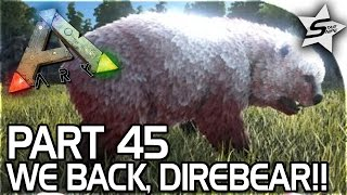 IT'S NOT OVER!! - DIREBEAR TAMING, New Base Searching..? - ARK Survival Evolved PS4 Gameplay Part 45