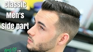 getlinkyoutube.com-Classic Mens Side Part HAIRCUT TUTORIAL! with Beard Trim.