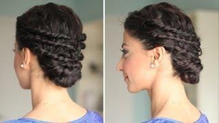 getlinkyoutube.com-Easy Up-Do for Naturally Curly Hair