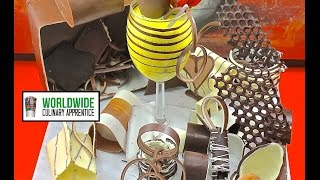 getlinkyoutube.com-A Chocolate Treasure - How to make Chocolate Garnish - Decorations for Desert Plating