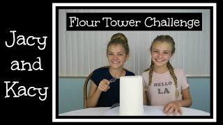 getlinkyoutube.com-Flour Tower Challenge ~ Jacy and Kacy
