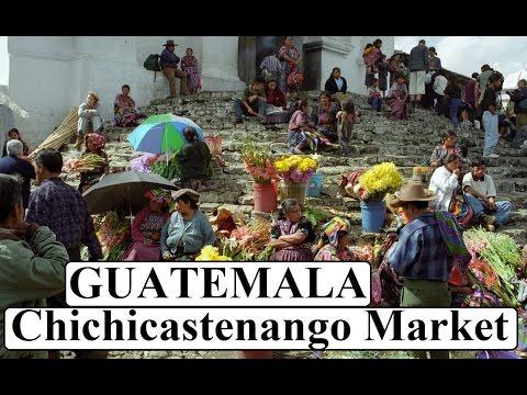 Colorful beautiful Chichicastenango Market Guatemala