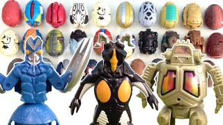 getlinkyoutube.com-Ultraman Egg Toys Collection Kaiju Dinosaurs Monsters Robots ,Zetton,Baltan, ウルトラエッグ 怪獣