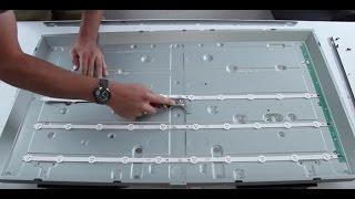 Tutorial de reemplazo de tiras LED - LG 42LN TV - reemplazar las tiras de LED - subtítulos español