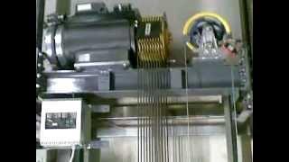 getlinkyoutube.com-MRL Elevator Lift Shaft in running action