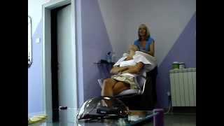 getlinkyoutube.com-Sexy woman shampooing @ salon DUO