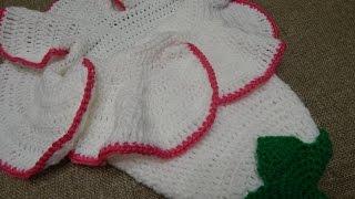 getlinkyoutube.com-Capullo en Flor para Bebe Crochet parte 1 de 2