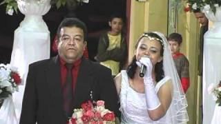 """getlinkyoutube.com-""""SOUBE QUE ME AMAVA""""  - Aline Barros Vania entra cantando de noiva em 16/05/2009"""