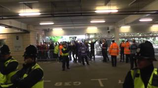 getlinkyoutube.com-Geordies V Mackems Stand Off Before Newcastle 0-3 Sunderland 1st Feb 2014