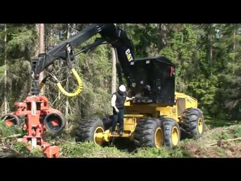 Cat® 550 Wheel Harvester with a PE-44 Harvester Head