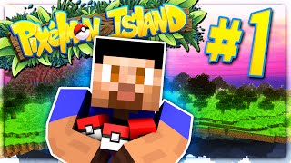 getlinkyoutube.com-THE ADVENTURE BEGINS - PIXELMON ISLAND SMP #1 (Pokemon Go Minecraft Mod)